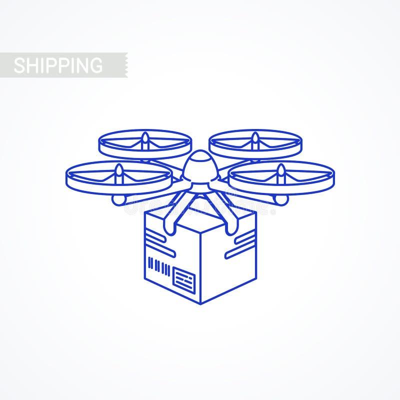 Truteń ikona tło pracownik pudełkowaty doręczeniowy przystojny odosobniony nadmierny usługowy biały Pilota lotniczy truteń z paku ilustracja wektor