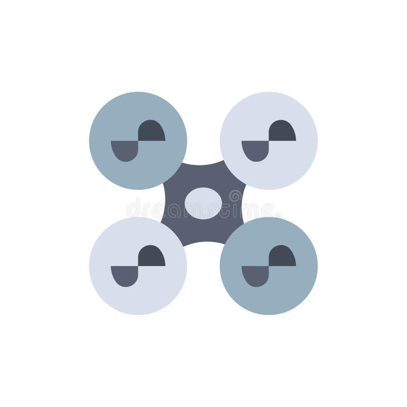 Truteń, komarnica, kwadrata copter, technologia koloru Płaska ikona Wektorowy ikona sztandaru szablon royalty ilustracja