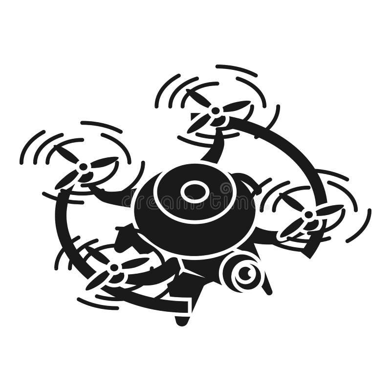 Truteń w lot ikonie, prosty styl ilustracji