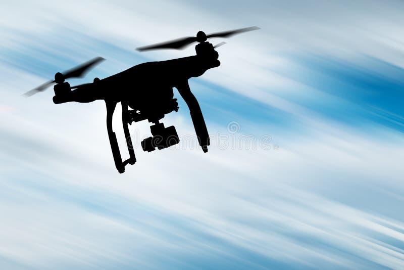 Truteń z 4K kamery lataniem obraz royalty free