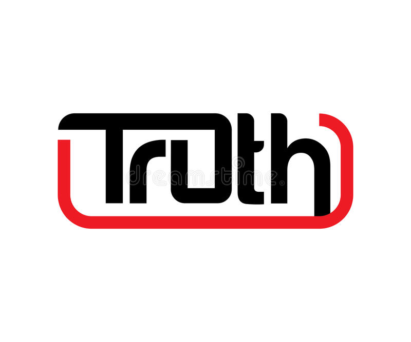 Truth Logo Design. COncept, AI 10 supported vector illustration