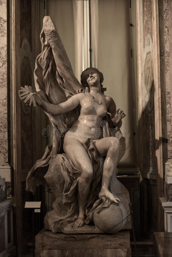 Free Truth Unveiled By Time By Gian Lorenzo Bernini. Royalty Free Stock Photos - 91498898