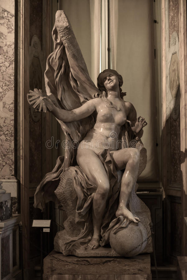 Free Truth Unveiled By Time By Gian Lorenzo Bernini. Royalty Free Stock Image - 91498966