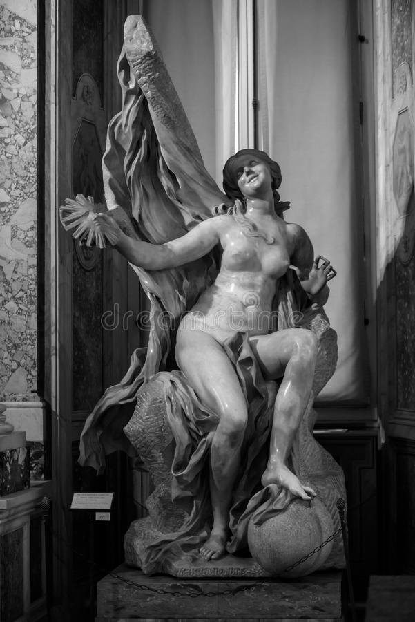 Free Truth Unveiled By Time By Gian Lorenzo Bernini. Royalty Free Stock Images - 91499049
