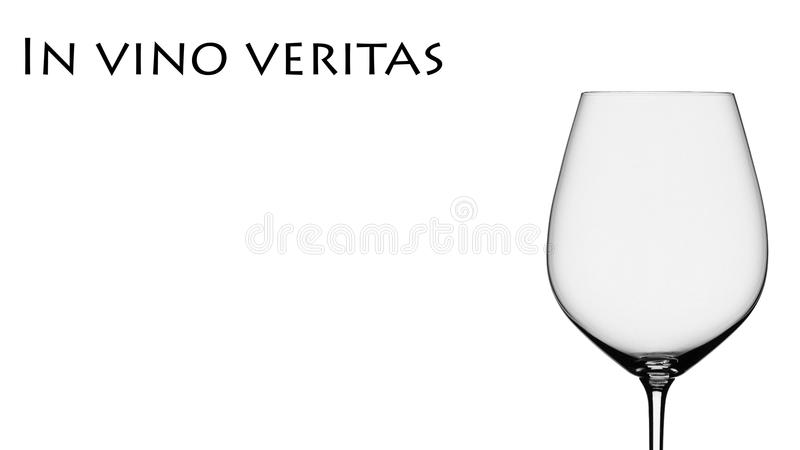 Truth in wine royalty free stock image