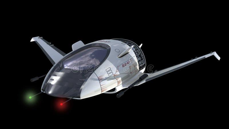 Trutnia projekt dla fantastyka naukowa wojny statków kosmicznych ilustracja wektor