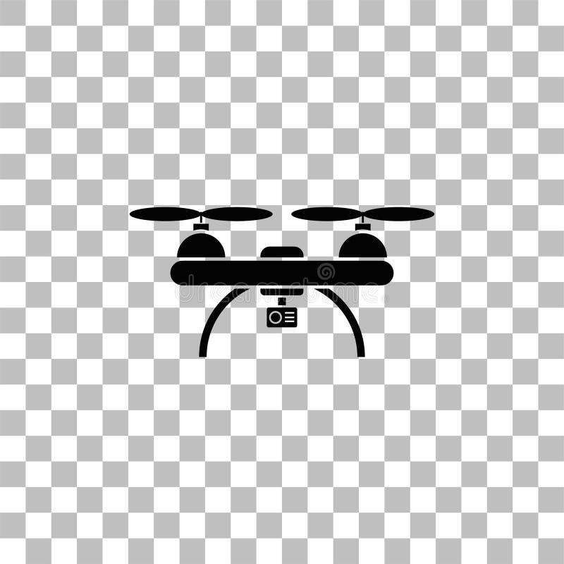 Trutnia quadrocopter ikony mieszkanie ilustracja wektor