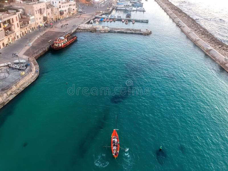 Trutnia widok łódź zdjęcie stock