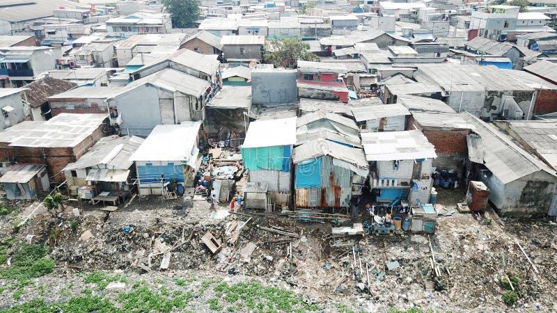 Trutnia widok zatłoczony slamsy sąsiedztwo zdjęcie stock