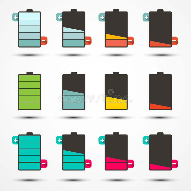 Download Trwałość Baterii Ikona Ustawiający Set Ilustracja Wektor - Ilustracja złożonej z bateria, wyznaczający: 57654437