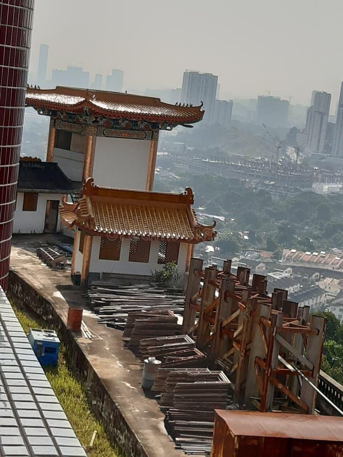 Trwający Contruction Kek Lok Si Penang zdjęcie royalty free