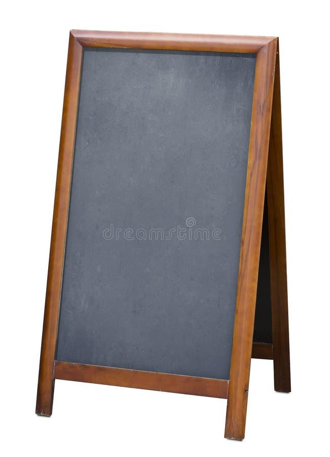 Trwanie menu blackboard odizolowywający z ścinek ścieżką obrazy royalty free