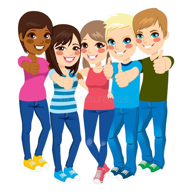 Trwanie nastolatek aprobaty ilustracji
