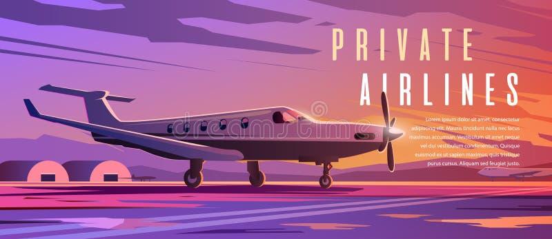 Trwanie samolot Podróż samolotem Zmierzch ilustracja wektor