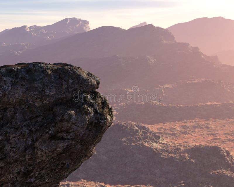 Trwanie skała, inspiracja punktu tło zdjęcia stock