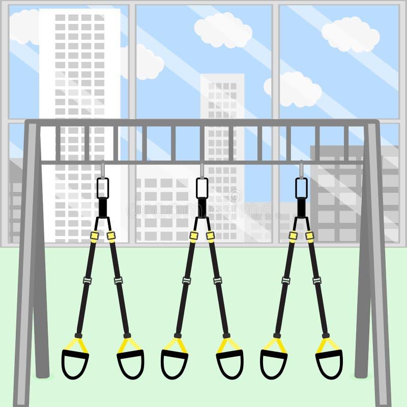Trx gym pokój ilustracja wektor