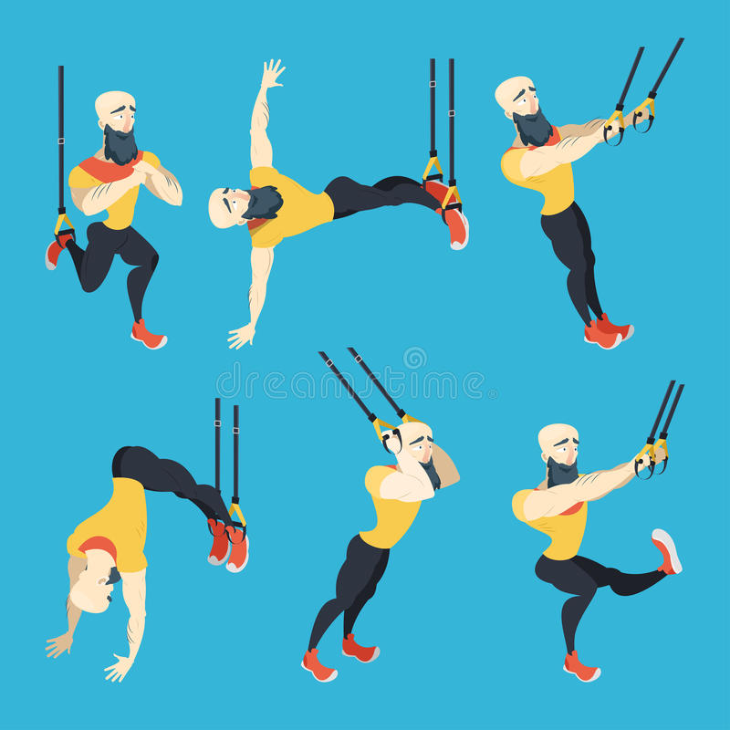 Trx Male Cartoon Coach Set stock photo