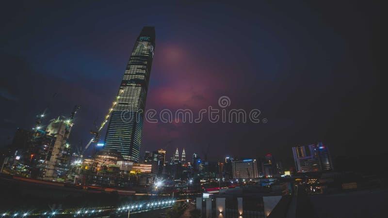 TRX Tun Razak Exchange eller torn för utbyte 106 royaltyfria bilder