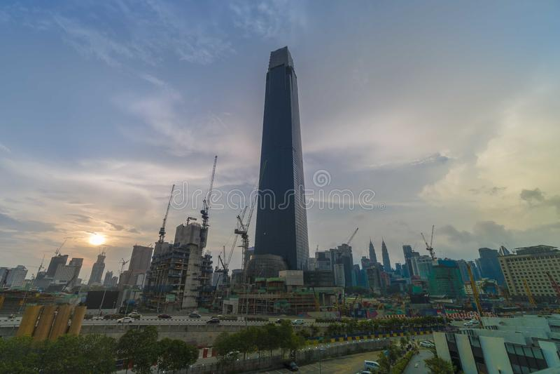 TRX Tun Razak Exchange eller torn för utbyte 106 arkivbilder