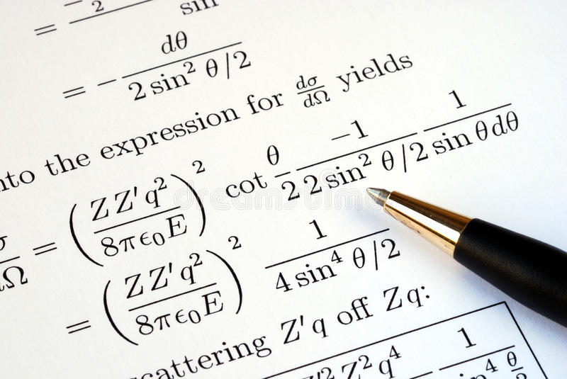 Try to solve some mathematics questions. Try to solve some complicated mathematics questions stock photo