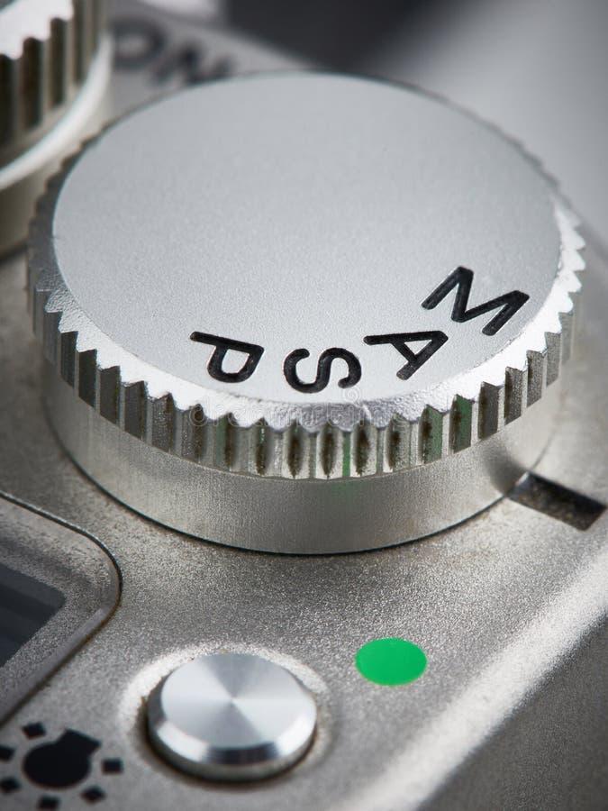 Tryb kontrolna tarcza na SLR kamerze obraz royalty free