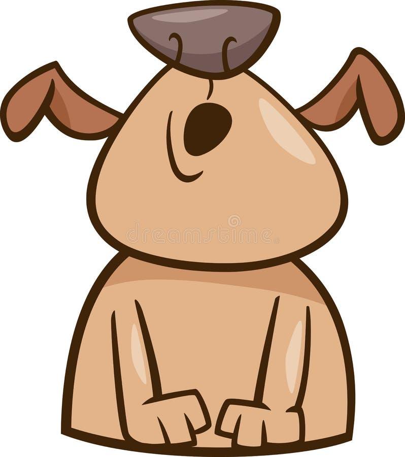 Trybowa wycie psa kreskówki ilustracja ilustracja wektor