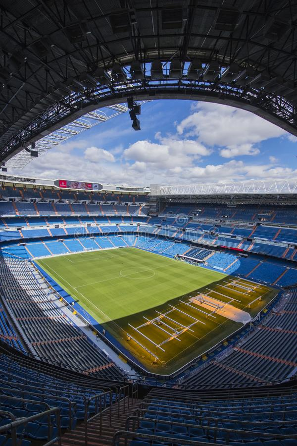 Trybuny Królewski stadium Real Madrid futbolu klub fotografia stock