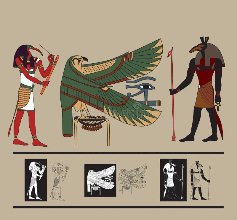 Tryck Egypten royaltyfri illustrationer