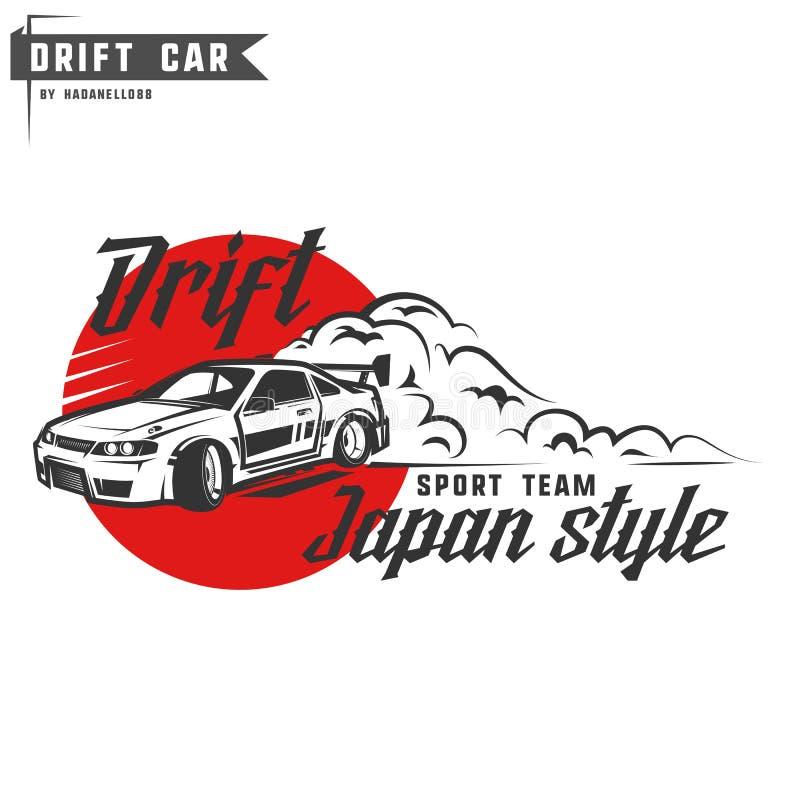 Tryck för drivasportlag för t-skjorta, emblem och logo royaltyfria bilder