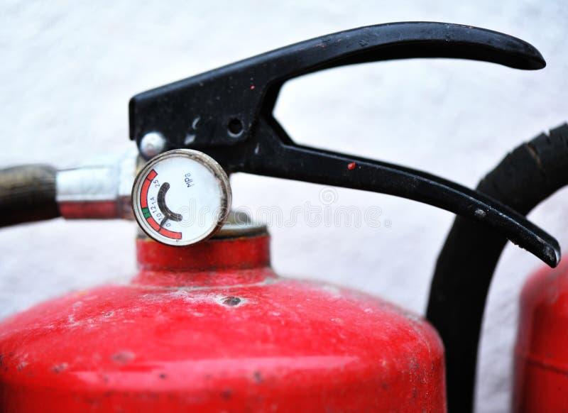 tryck för eldsläckarebrandgauge royaltyfria foton