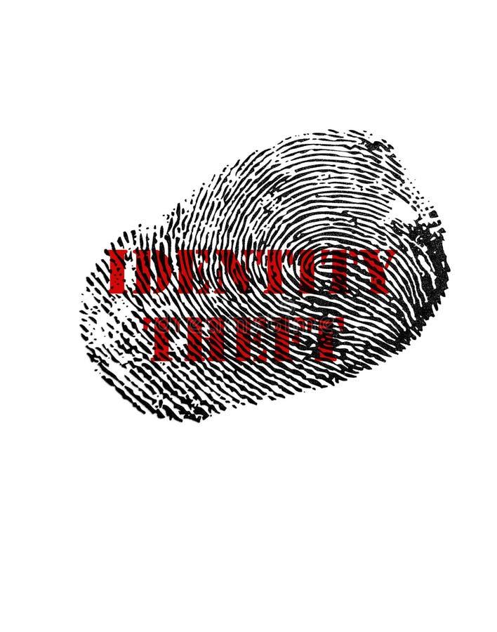 Tryck för identitetsstöld arkivfoto