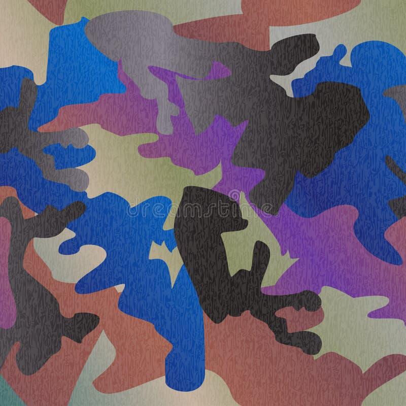 Tryck för kläder för kamouflagemodellbakgrund, repeatable camogl vektor illustrationer