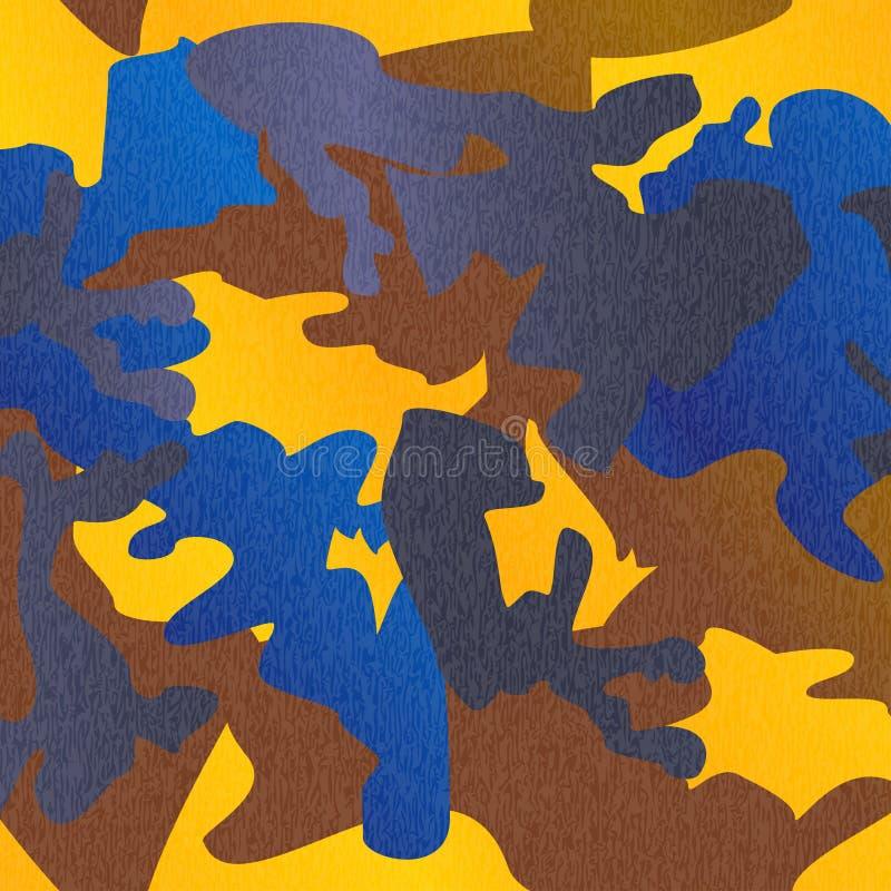 Tryck för kläder för kamouflagemodellbakgrund, repeatable camogl stock illustrationer