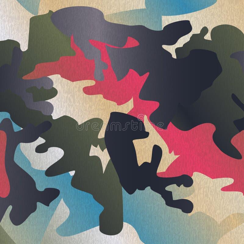 Tryck för kläder för kamouflagemodellbakgrund, repeatable camogl royaltyfri illustrationer