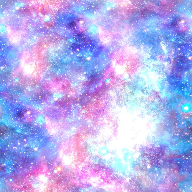 Tryck för kosmos för färgexplosiongalax stock illustrationer