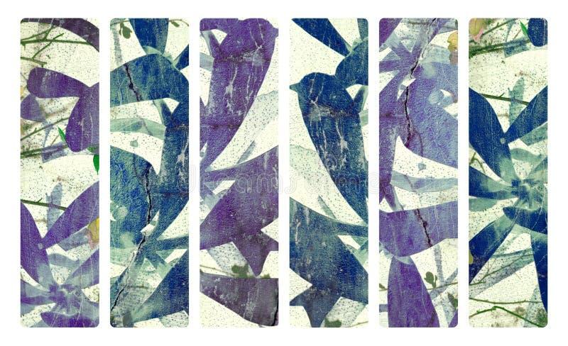 tryck för murbruk för papper för konstbanerkokosnöt vektor illustrationer