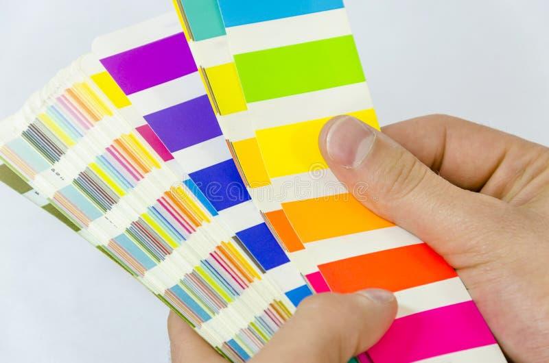 Tryck på färgledning - cmyk arkivfoto