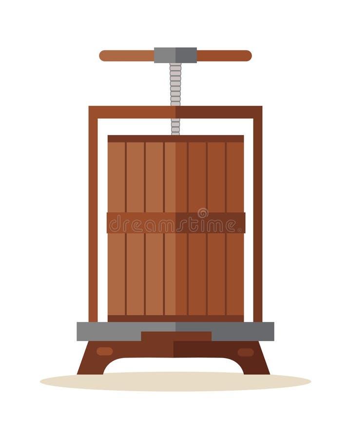 tryck på för druvor stock illustrationer