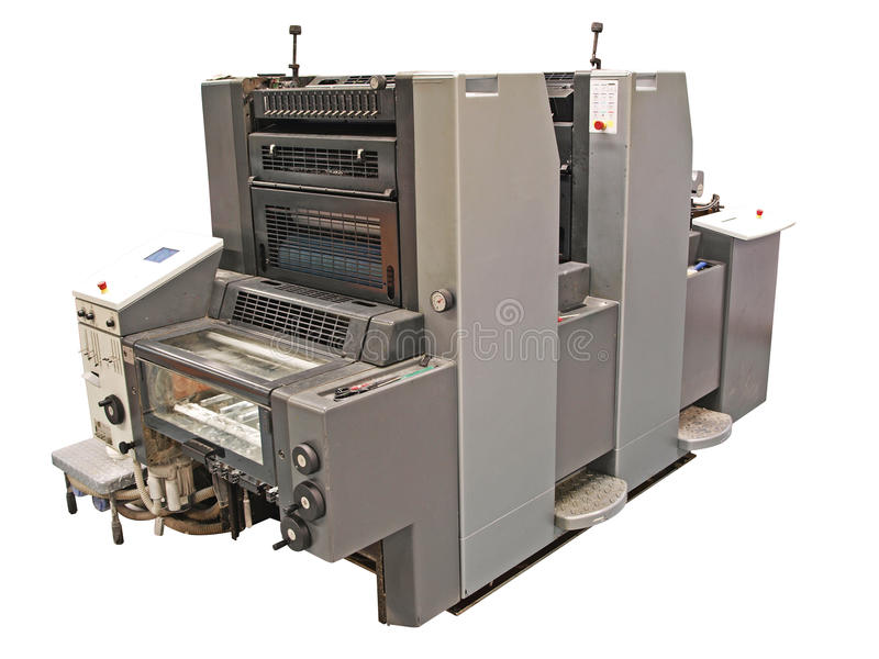 tryck på printing fotografering för bildbyråer