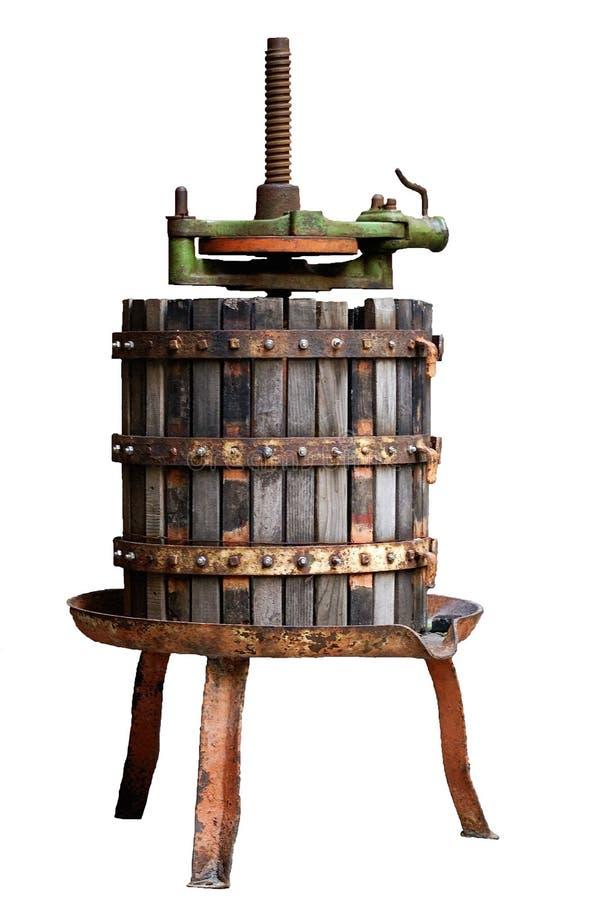 tryck på wine royaltyfri bild