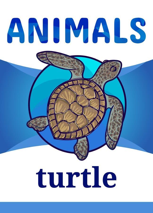 Tryckbar djur bildkort royaltyfri illustrationer