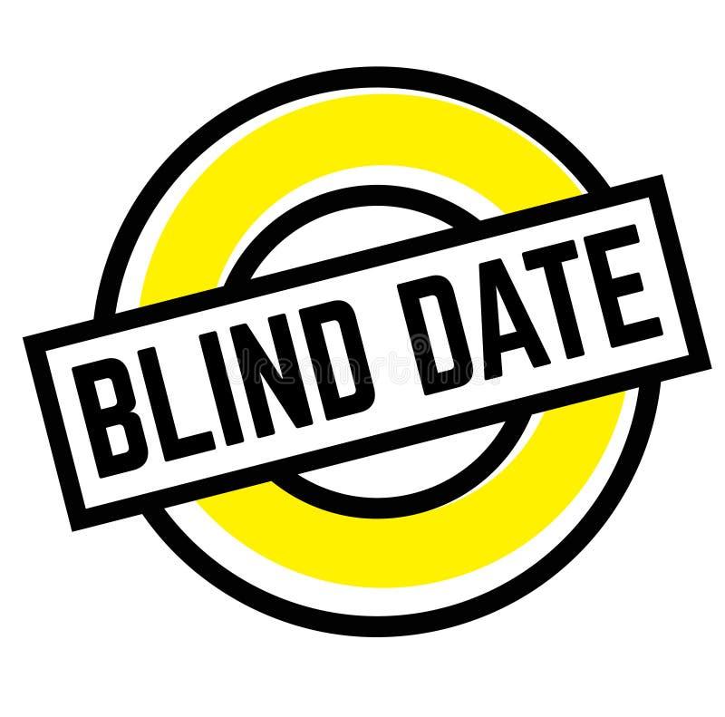 Tryckblindträffstämpel på vit stock illustrationer