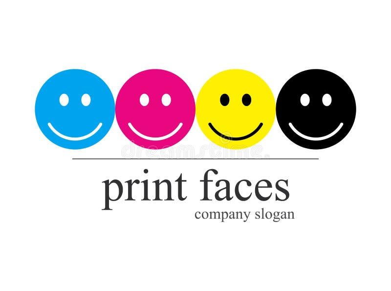 Trycket shoppar logoföretaget vektor illustrationer