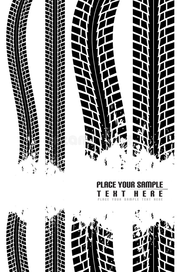 tryckgummihjulvektor stock illustrationer