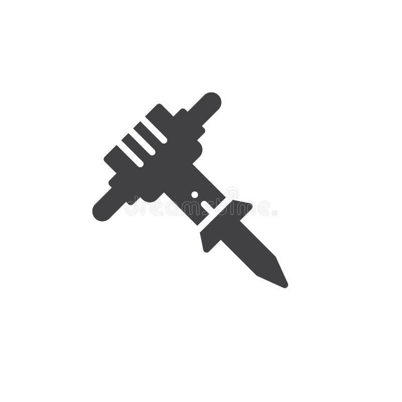 Tryckluftsborrsymbolsvektor vektor illustrationer