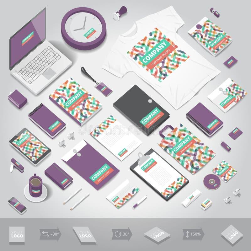 Tryckmall för företags identitet vektor illustrationer