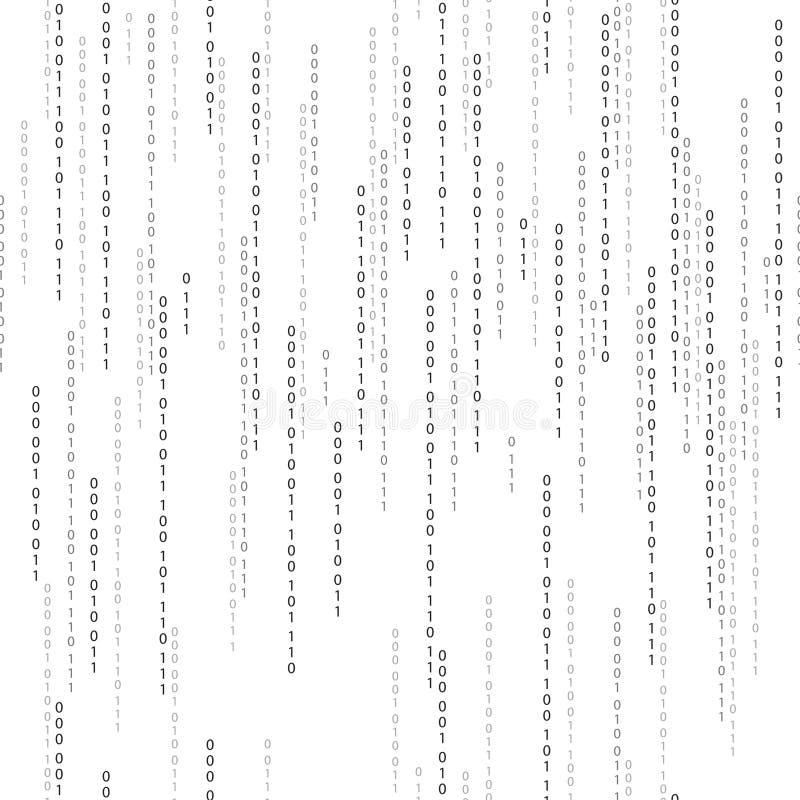 Tryckning av binär kod royaltyfri illustrationer