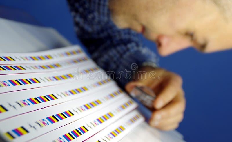 Tryckprov som kontrollerar cmyk royaltyfria bilder