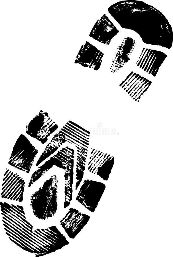 trycksko stock illustrationer