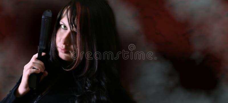 Download Trycksprutakvinna arkivfoto. Bild av flicka, sexigt, closeup - 41316